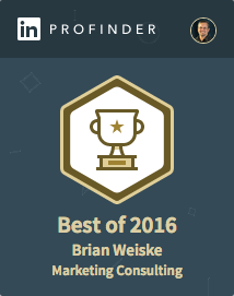 Best of 2016 for Marketing Consulting from LinkedIn ProFinder | Brian Weiske